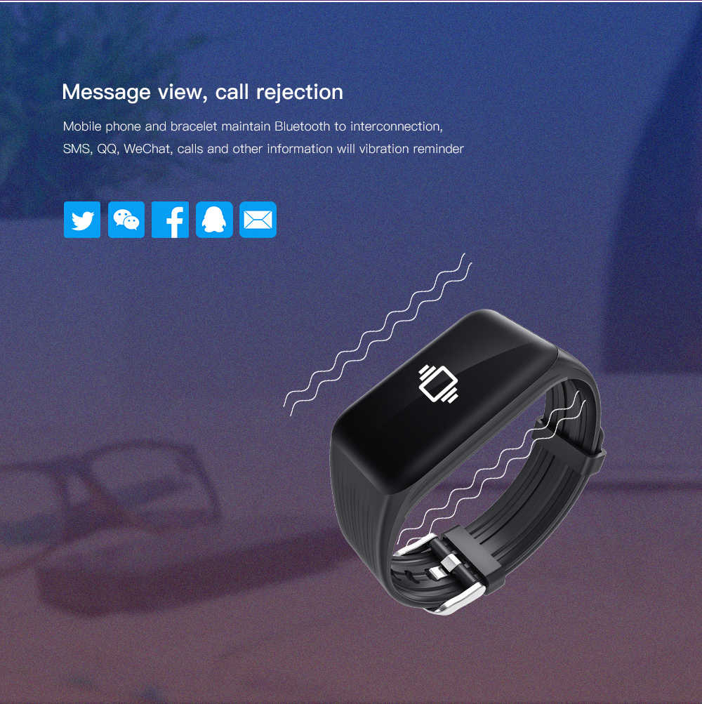 K1 Real-Time Kebugaran Tracker Watch IP68 Nirkabel Tahan Air Smart Gelang dengan Denyut Jantung Monitor