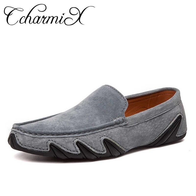US $22.8 48% OFF|CcharmiX Sommer Wandern Atmungsaktiv Casual Schuhe Neue Mode Mokassins Männer Faulenzer Wildleder Leder Herren Fahren Boot Schuhe