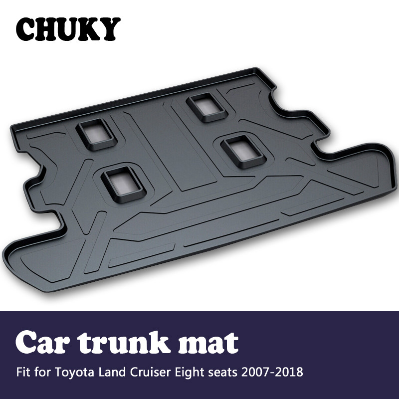 CHUKY For Toyota Land Cruiser J200 8 Seats 2007-2018 Car Cargo rear trunk mat Styling Boot Liner Tray Anti-slip mat AccessoriesCHUKY For Toyota Land Cruiser J200 8 Seats 2007-2018 Car Cargo rear trunk mat Styling Boot Liner Tray Anti-slip mat Accessories