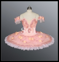 Free Shipping Adult Women Kids Girls Size Ballet Tutu Costumes Classical Ballet Tutu Professional Tutus Flower