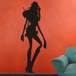 DCTAL сексуальная девушка, красавица тело пистолет бар Наклейка на стену s, женщина голый девушка Наклейка на стену KTV для пабов и баров