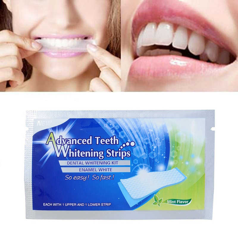 20Pcs/10Pair 3D White Gel Teeth Whitening Strips Oral Hygiene Teeth Strip blanchiment Dental Bleaching Teeth Whitening TSLM2