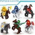 6 unids/set nexus caballeros futuro guerrero castillo building blocks ladrillos compatible legoes niños juguetes para niños