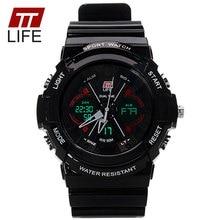 TTLIFE Watch Men Waterproof 50m LED Sport Running Watch Luxury Brand Male Outdoor Digital Army Military Wrist Watch TS01 vs 0966