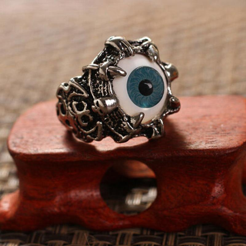 for university rings men adjustable evil cool dragon gothic ring evbea claw jewelry big eye biker dp statement