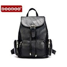 DOODOO Новая Англия Стиль Леди Натуральной Кожи Рюкзак женщины рюкзаки Кожа Школьный Дизайнерский Бренд Vintage новый T284