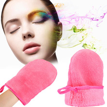 Reusable Microfiber Facial Cloth Face Towel Makeup Remover Cleansing Glove Tool HB88