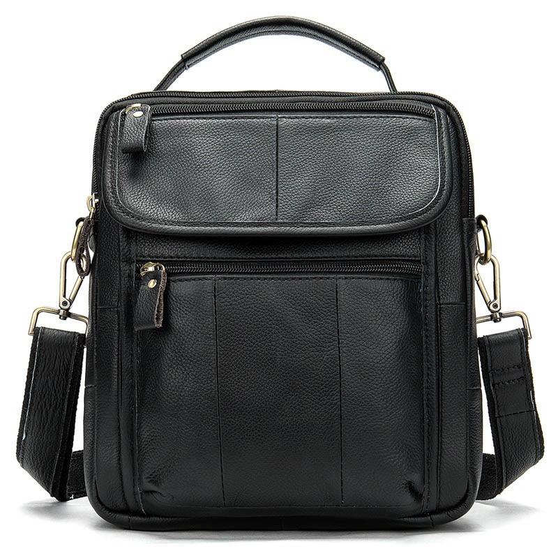 WESTAL Men's Genuine Leather Bag Crossbody Bags for Men Messenger Bag Men Leather Men's Shoulder Bags Male Handbags 8870