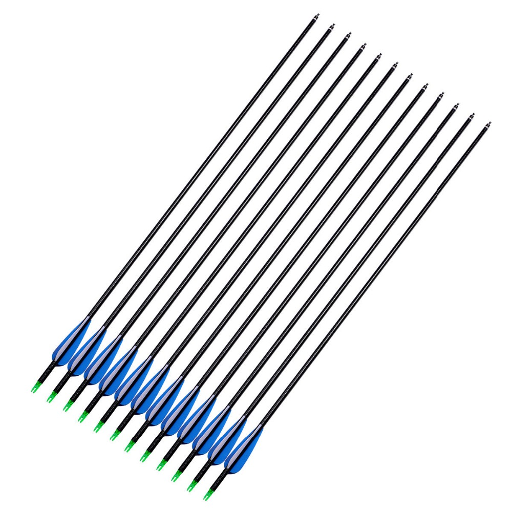 18pcs/25pcs 80cm Fiberglass Arrows Spine 600 Curly Fiberglass Shaft Target Practice Archery Arrows for Hunting Shooting
