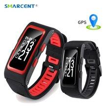 Smarcent Фитнес трекер умный Группа 2 сердечного ритма Мониторы браслет gps шагомер высота SmartBand IP67 Водонепроницаемый браслет