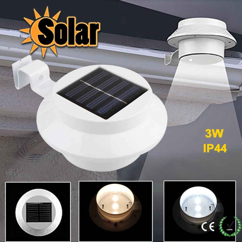 com buy wall mounted 3 led solar power fence solar lights outdoor