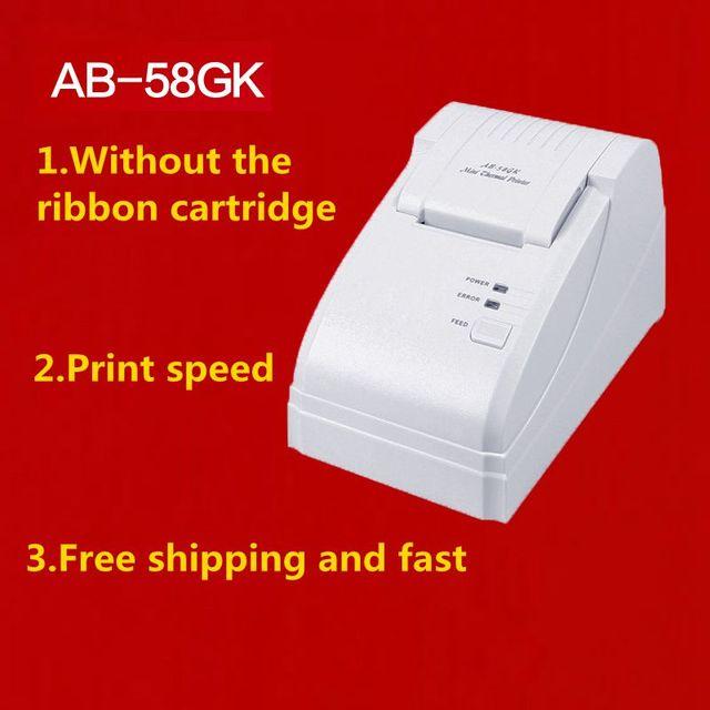 Обновление AB-58GK супермаркет бумага для принтера 58 мм портативный термальный принтер bluetooth кассовый мульти-интерфейс usb