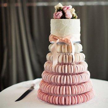 6 段マカロンタワーのケーキはマカロンディスプレイラックホルダーツール結婚式の装飾イースタークリスマス誕生日パーティー