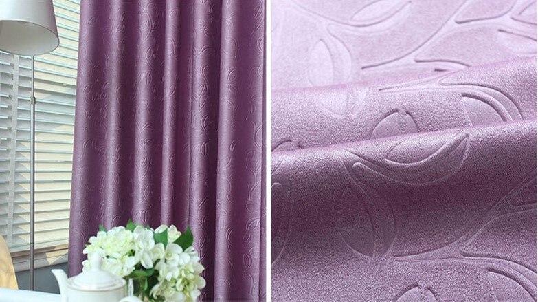 Morden Purple pearl velvet curtains for living room blackout curtains for bedroom cortinas para sala de estar