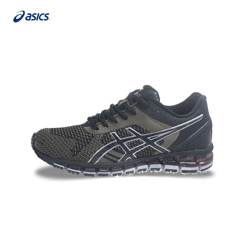 Original ASICS GEL-QUANTUM 360 KNIT Mens Stability Running Shoes Green Sports Shoes Sneakers Outdoor Walkng Jogging T728N