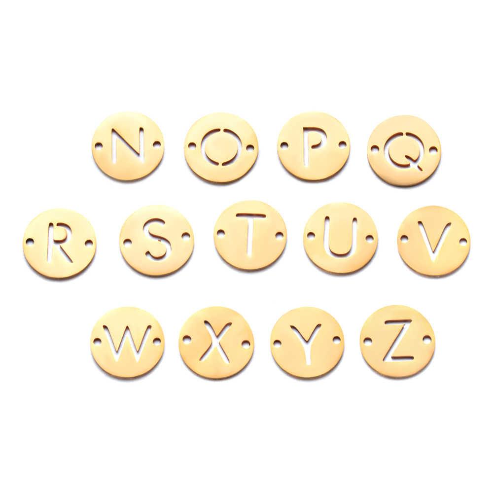 5 ピース/ロット 100% ステンレス鋼初期名チャーム Vnistar DIY アルファベットペンダントチャーム 26 手紙ジュエリー作りチャーム卸売