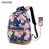 Women Travel Backpack Usb Charging Small Fresh School Bags Laptop Rucksack Female Student Backpack School Bag For Teenage Girls