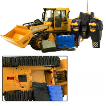 new RC Truck 6CH Bulldozer Caterpillar Track Remote Control Simulation Engineering Truck Christmas Gift Construction Model