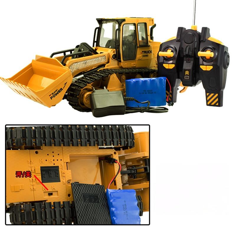 RC Truck 6CH Bulldozer Caterpillar Tractor Simulasi Kawalan Jauh - Mainan kawalan radio - Foto 5