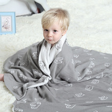 2017 New Arrivals Plaid Flash/Panda/Endless Blanket 100% Cotton Cute Knitted Bedspread For Sofa/Bed/Home/Gifts 2 Size