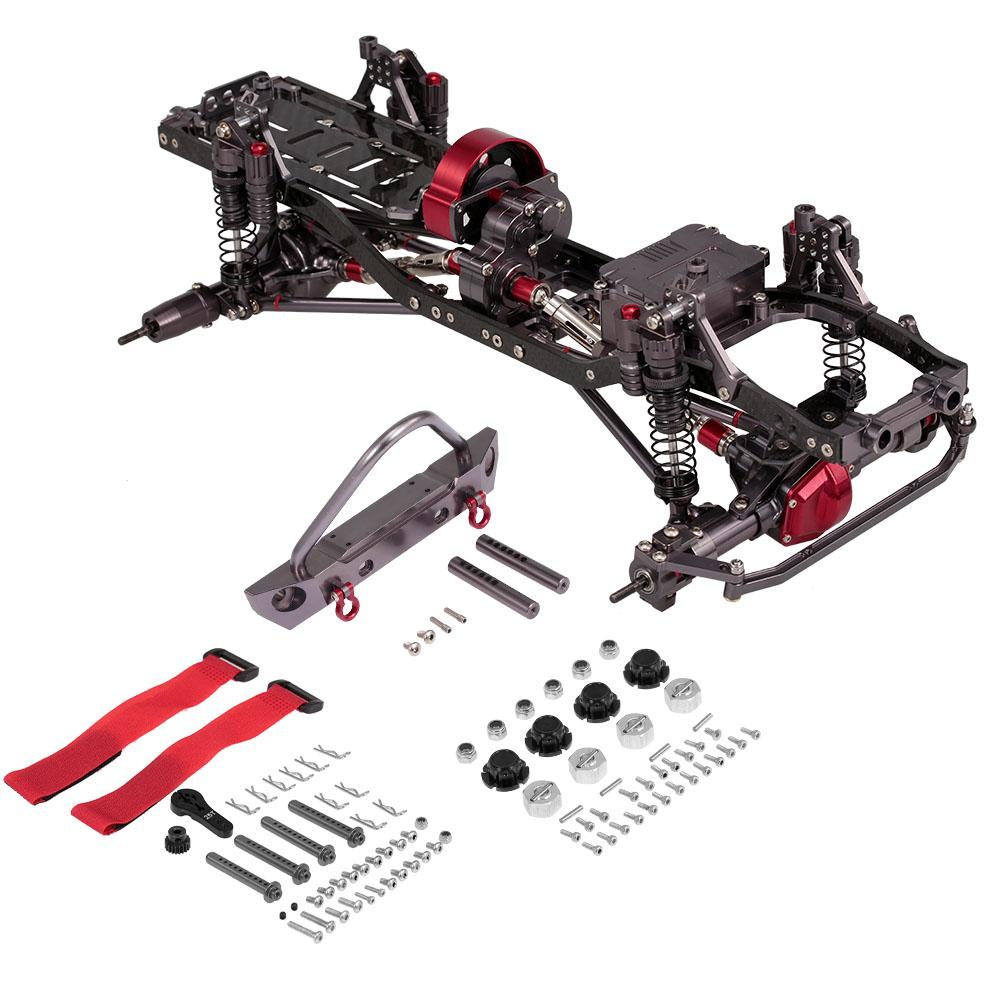 LeadingStar RC Car Frame Kit 1/10 CNC Aluminum For SCX10 AXIAL RC Crawler Climbing Car Without Tire