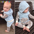 2PCS/0-24Months/Spring Autumn Newborn Baby Clothes Casual Hooded T-shirt+Pants Sport Suit Infant Boys Girls Clothing Sets BC1132