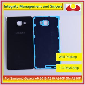 Image 2 - Oryginał do Samsung Galaxy A9 Pro A910 A9100 A910F obudowa klapki baterii tylna część obudowy obudowa Shell wymiana