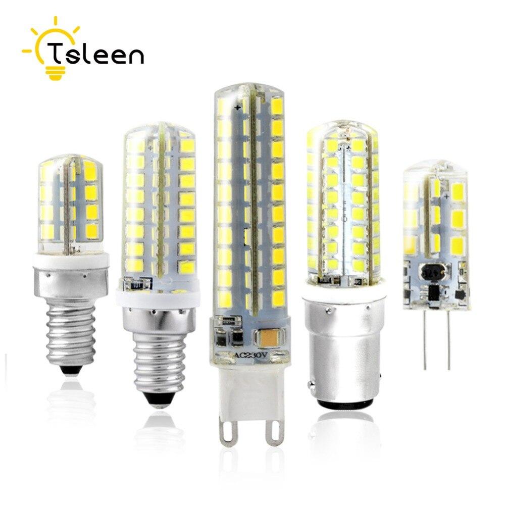 TSLEEN G4 G9 Led Lamp Bulb 3014 SMD E12 E14 B15 3W 5W 6W 8W 9W LED Lighting Lights replace Halogen Spotlight Chandelier