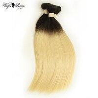 Queen Virgin Remy Brazilian Hair Weave 1/3/4 Bundles T1B/613 Color Ombre Straight 100% Human Hair Bundles Weft Extensions