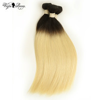 Queen Virgin Remy Brazilian Hair Weave 1/3/4 Bundles T1B/613 Color Ombre Straight 100% Human Hair Bundles Weft Extensions