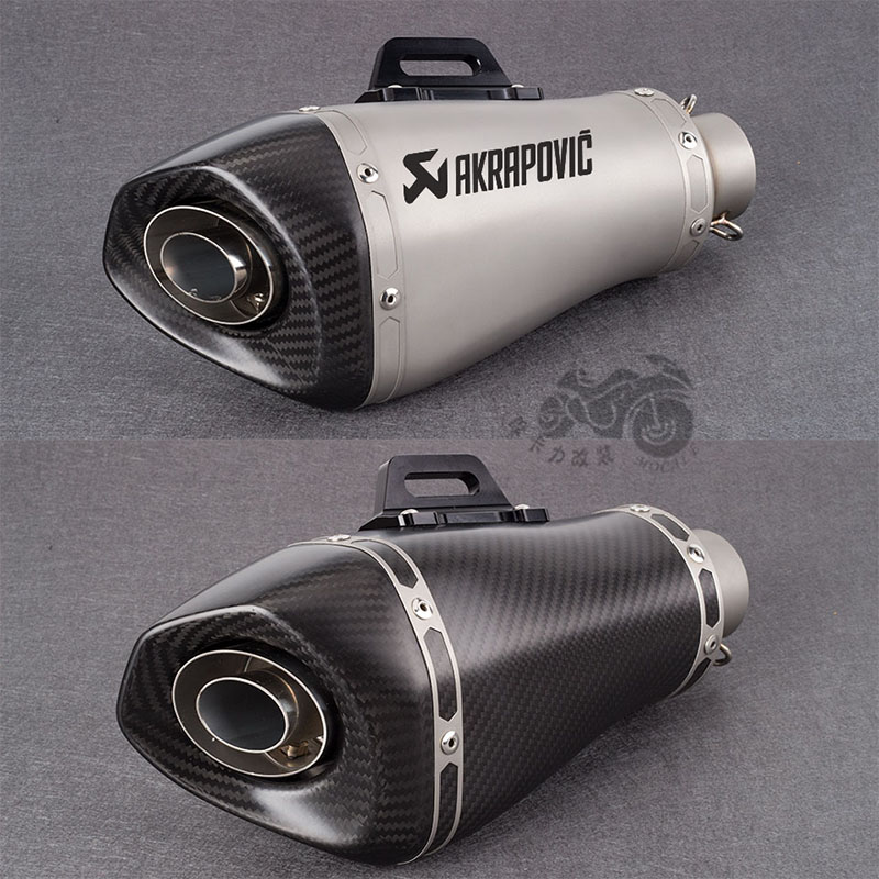 Universal 51mm Motorcycle Carbon Fiber Exhaust Pipe Muffler Akrapovic Exhaust For S1000RR Z900 GSXR750 S1000XR ZX6R