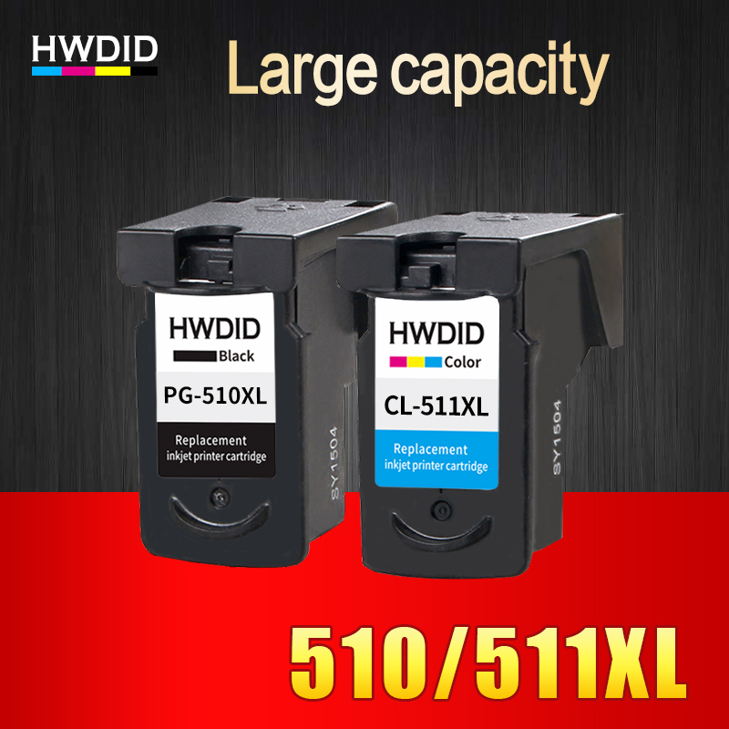 HWDID PG/pg510 CL/cl511 Compatible ink cartridge PG 510 CL 511 for Canon Pixma IP2700 MP240 MP250 MP260 MP270 MP280/480 printer pg47 pg 47 pg 47 pigment ink cl 57 cl 57 dye ink refill kit for canon pixma e400 e410 e460 e470 e480 inkjet cartridge printer