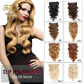 Body Wave Clip in Human Hair Extensions Malaysian Virgin Remy Hair Weaves Clip Ins Natrual Black Clip In Hair Extensions 100G