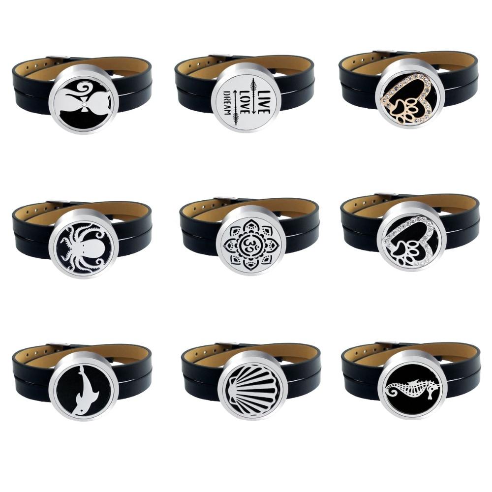 ZP-BS504-0 Diffuser Leather Locket Bracelet-8