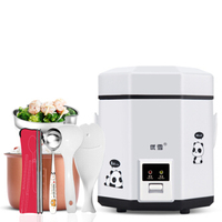 Multi use Electric Skillet Mini Portable Hot Pot Noodles Rice Cooker with Non stick Liner 1.2L Best Rice Cooker White