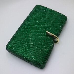 Image 5 - רויאל Nightingales קשה תיבת מצמד גביש ערב תיקי נשים המפלגה לנשף אמרלד כהה ירוק