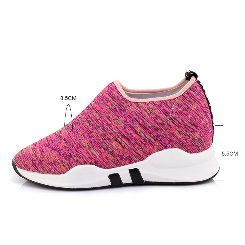 Plate forme Chaussures Espadrilles Occasionnels Pratique pink Camping Plein Black Femmes En Respirant blue Dames Marche Air Fanyuan ftUqEnf