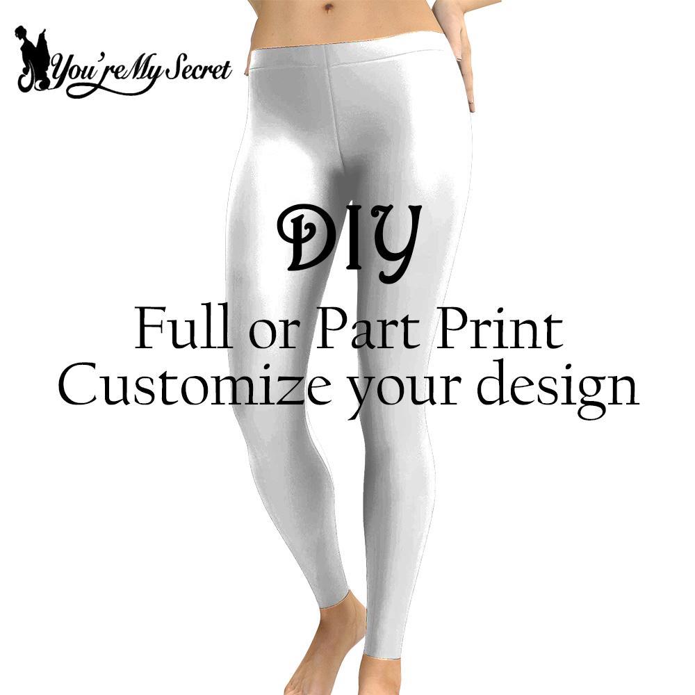 [You're My Secret] DIY   Leggings   For Women 3D Print Customize Design Women   Leggings   Casual Push Up Elastic Fitness Pants