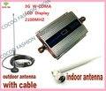 Mini W-CDMA 2100 Mhz 3G Repetidor de Sinal De Reforço Repetidor de Sinal WCDMA 3G Telefone Celular Amplificador com Display LCD + Cabo + antena
