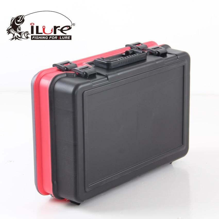 ILure 12*38.5*26 cm boîte de matériel de pêche en plastique boîte de matériel de pêche boîte d'accessoire de pêche boîte d'appât de leurre de pêche - 6