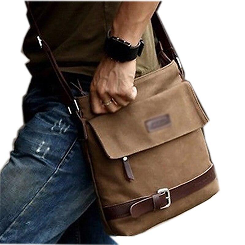 Men's Vintage Casual Canvas Crossbody Messenger Satchel Shoulder Bag hot vintage men canvas satchel casual cross body messenger shoulder bag