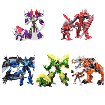 цена на Oversize 25CM Transformation Movie 5 Toy Cool Dinosaur Slag Grimlock Snarl Action Figure ABS + Alloy Classic Toys Anime Robot