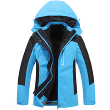 hiking jacket women Windbreaker waterproof ski and snowboard outdoor rain jacket Mountaineering fleece jacket two pieces