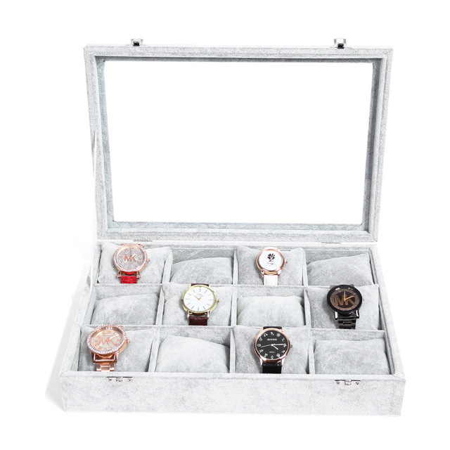 High Quality 12 Grids Watch Storage Box With Pillow Jewelry