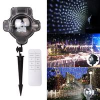 Christmas Snowfall Spot Projector Light Snow Garden Landscape Lamp Decoration Lighting Waterproof IP44 Outdoor Garden