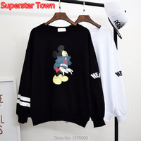 Cartoon Mickey Mouse Mori Girls Shirts Kawaii Student Casual T Shirt Harajuku Long Sleeve Cute Tops