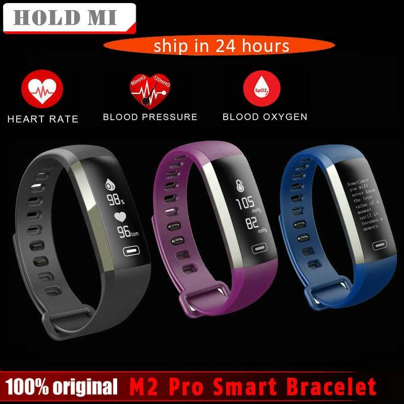 Tenere Mi M2 Pro R5MAX Intelligente Fitness Vigilanza Del Braccialetto 50 parola di visualizzazione Delle Informazioni di pressione sanguigna heart rate monitor di ossigeno Nel Sangue