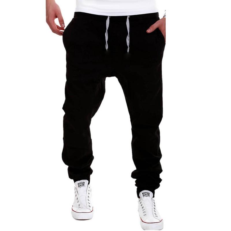New Men Haren Sweat Pants for Men 2016 Harem Pants Men Pocket Drawstring For Training Men Hip Hop Loose Solid Trianing Pants  (2)