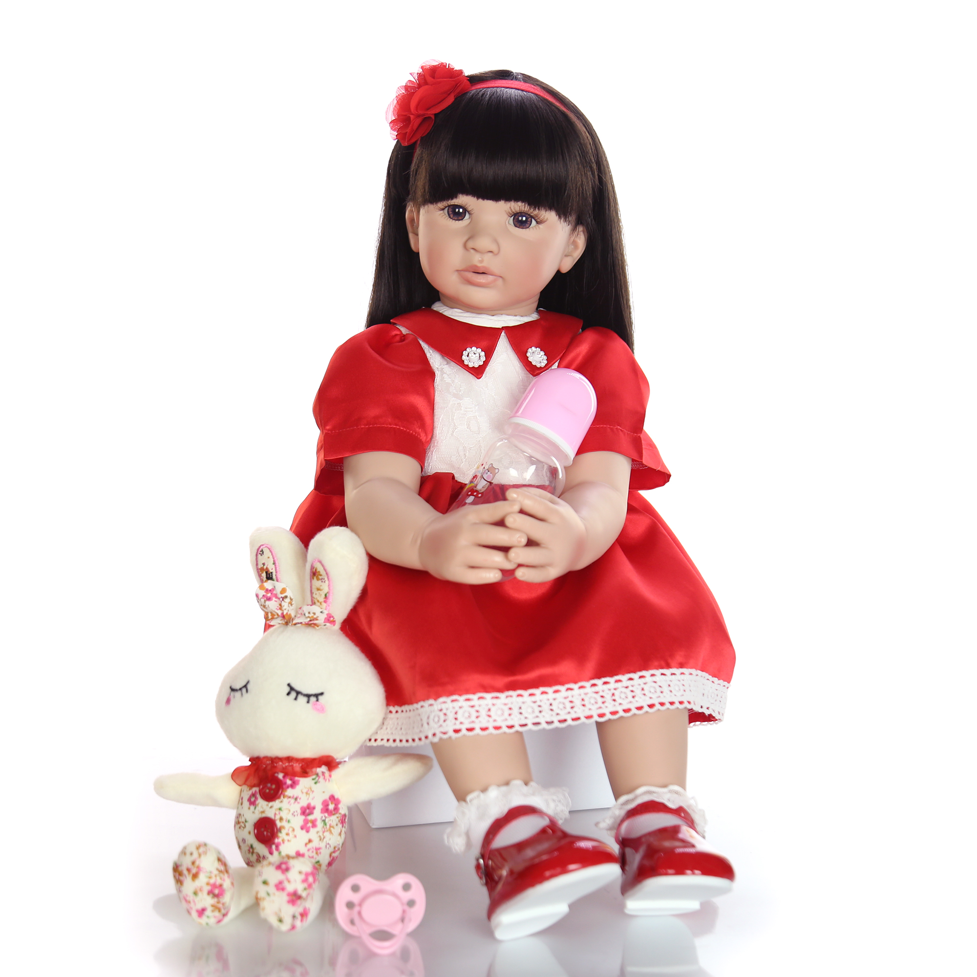 KEIUMI 60 cm Silicone Soft Reborn Dolls With Eyes Open 24 Inch Fashion Doll Baby Toy For Childrens Day Gifts Menina BrinquedoKEIUMI 60 cm Silicone Soft Reborn Dolls With Eyes Open 24 Inch Fashion Doll Baby Toy For Childrens Day Gifts Menina Brinquedo