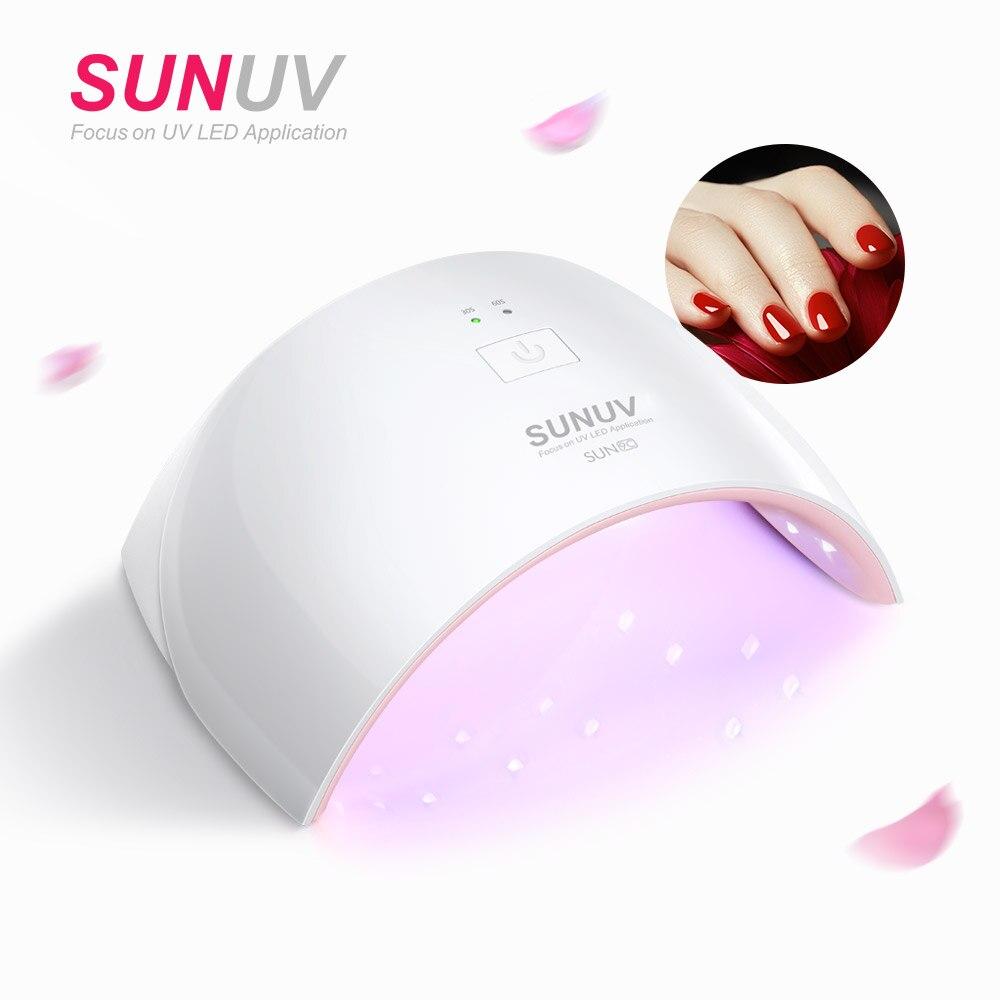 SUNUV SUN9c Plus 36 watt UV LED Nagel lampe 18 LEDs Nagel trockner für Alle Gele mit 30 s/ 60 s Taste Perfekte Daumen Trocknen Lösung